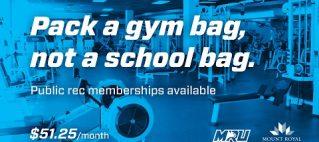 MRU Recreation Membership Winner
