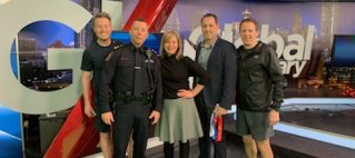 Police Half on Global Morning News